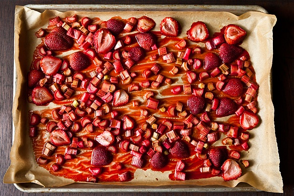 Roasted Rhubarb and Strawberries