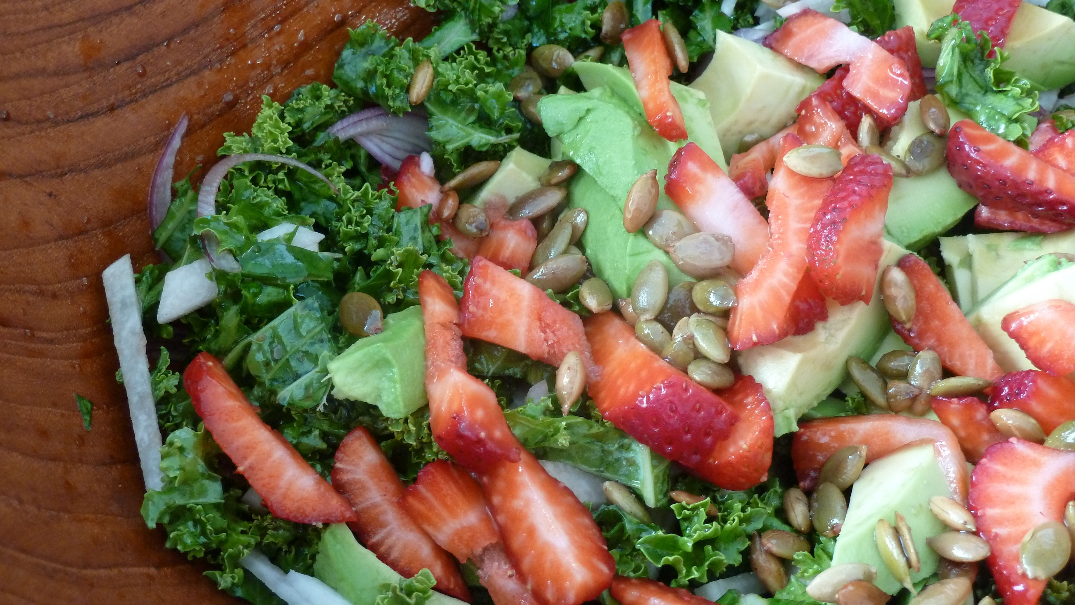 Party in Your Mouth Summer Avocado and Kale Salad