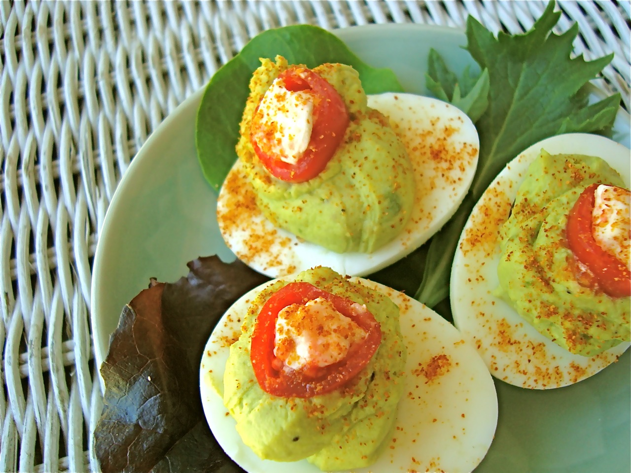 """Little Green Devils"" Deviled Eggs"