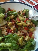 Avocado, Tomato & Black-Eye Pea Salad with Citrus Vinaigrette