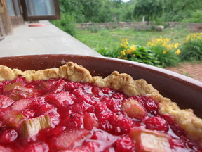 Ruby Red Currant and Rhubarb Tart