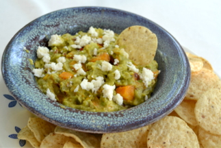 Guacamole with butternut squash and chipotle