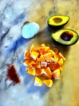 Smokey Orange and Avocado salad