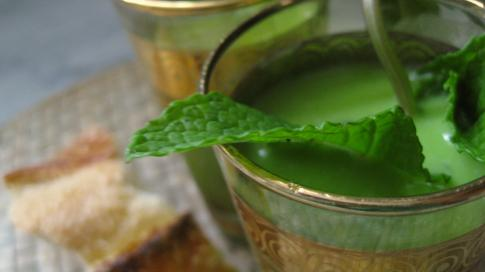 Indian Spiced Chilled Minted Pea Soup