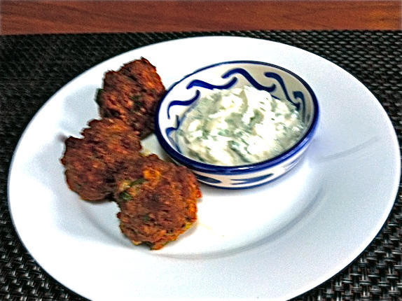Merguez Meatballs with Minted Yogurt Dipping Sauce