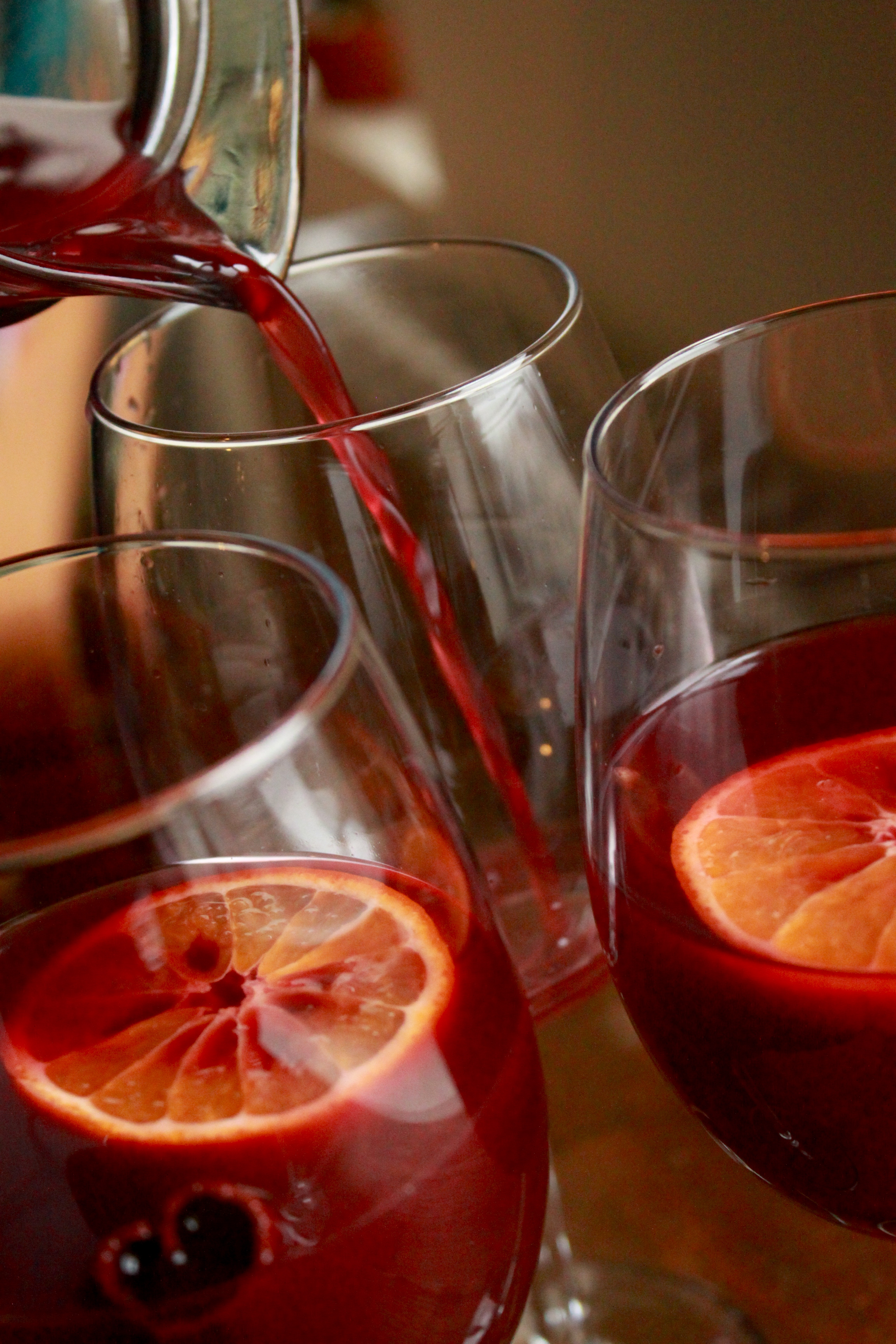 Sweet &amp; Spicy Red Wine Sangria (aka sangria de noche buena)
