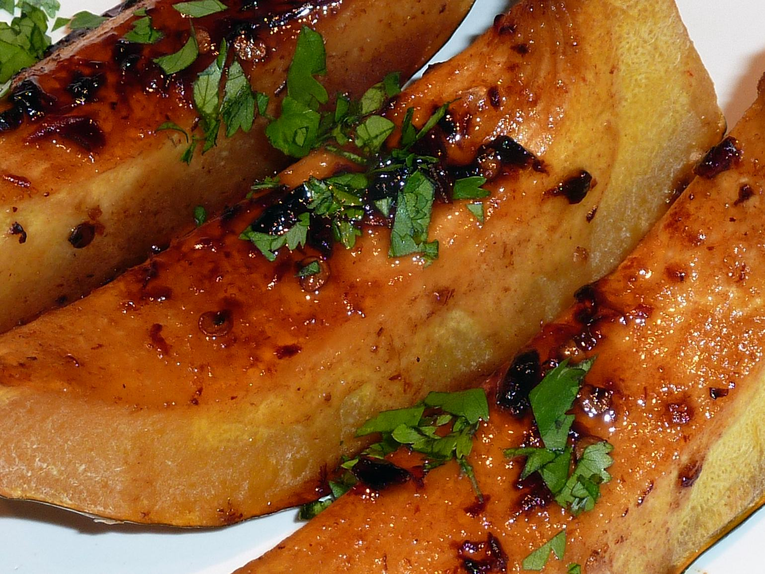 Roasted Acorn Squash with Chipotle-Hoisin Glaze