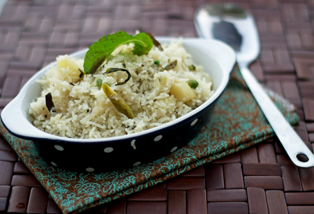 Mint and Potato Pulao