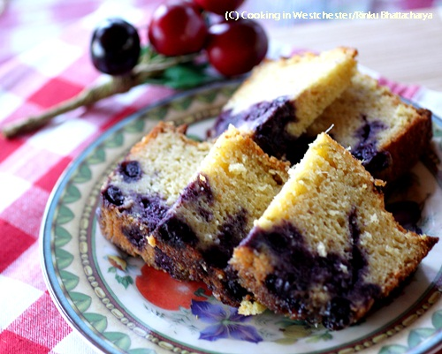 Mint and Lime Blueberry Cake