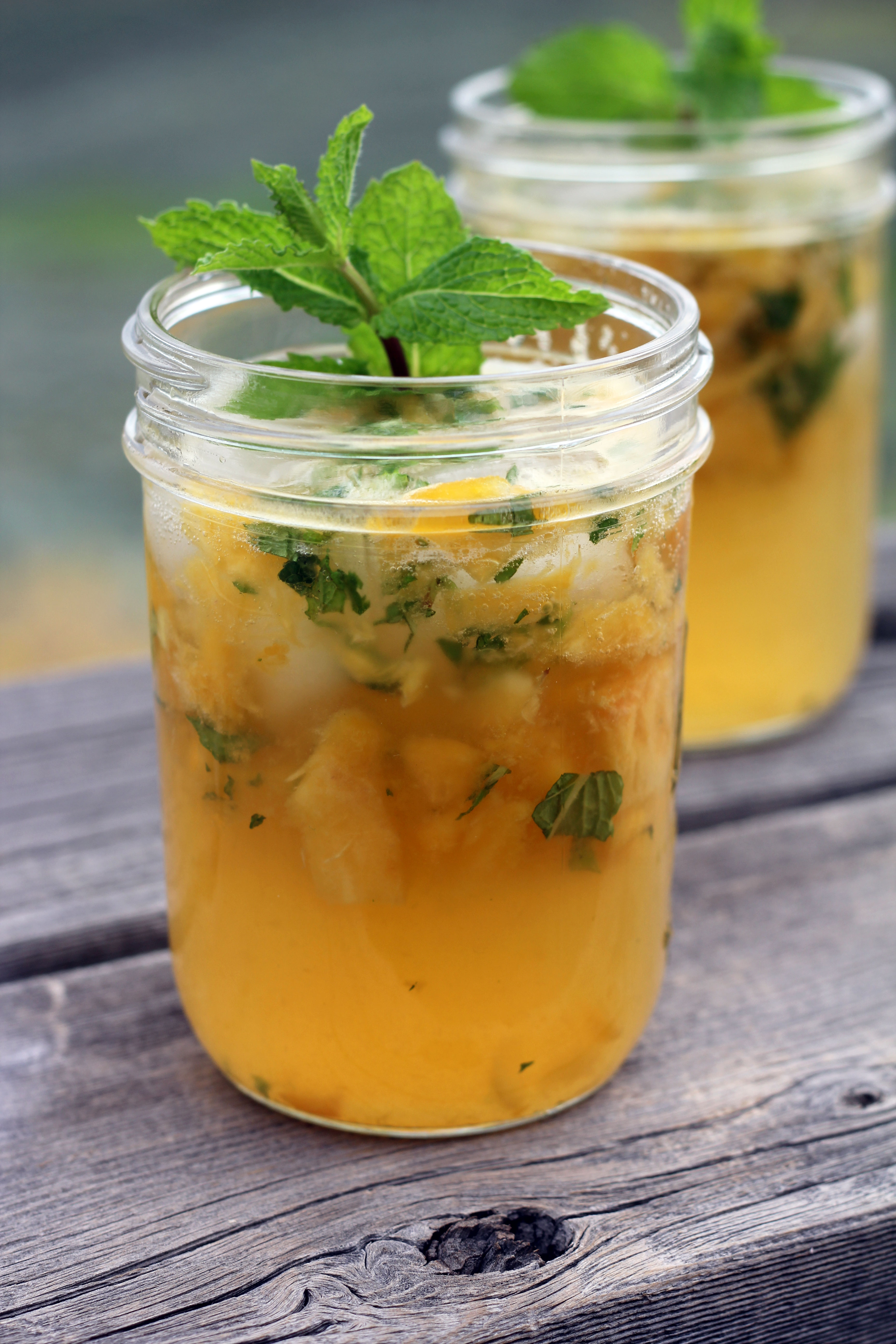 Minty Peach Cooler