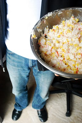 Crab and Corn Rice Salad