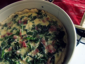 Pancetta and Kale Quiche