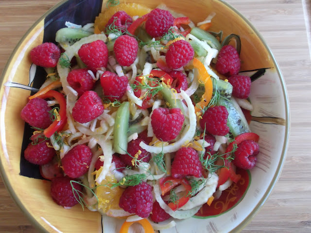Fruit and Vegetable Salad with Creamy Mayo-Honey and Rum Dressing