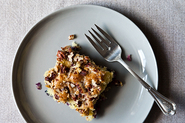 Brooke Dojny's Blueberry Snack Cake with Toasted Pecan Topping
