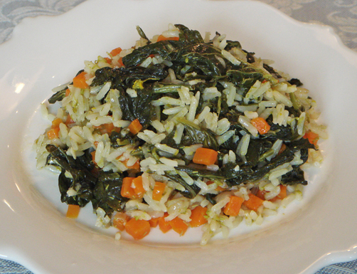 Turnip Sprouts and Carrot Rice  Arroz de Nabias e Cenoura (Portugal)