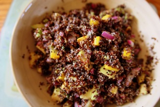 Black Quinoa with Avocado &amp; Summer Squash. 