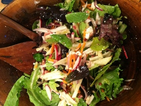 Summer Slaw w Greens and Bacon