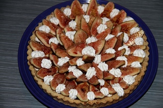 Fig Tart with Mascarpone and Creme Fraiche