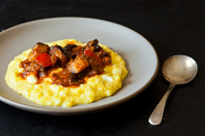 Yotam Ottolenghi&#x27;s Sweet Corn Polenta with Eggplant Sauce