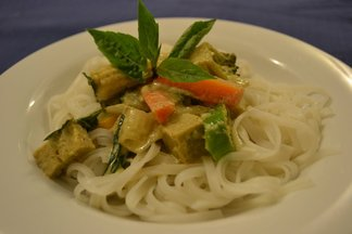 Vegetarian Thai green curry