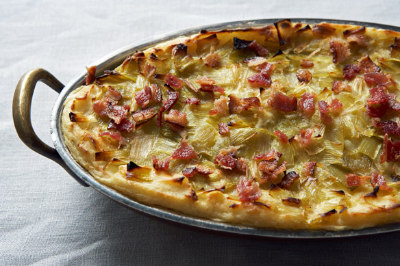 Potato Mash with Bacon and Leek Confit