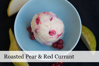 Roasted Pear & Red Currant Ice Cream