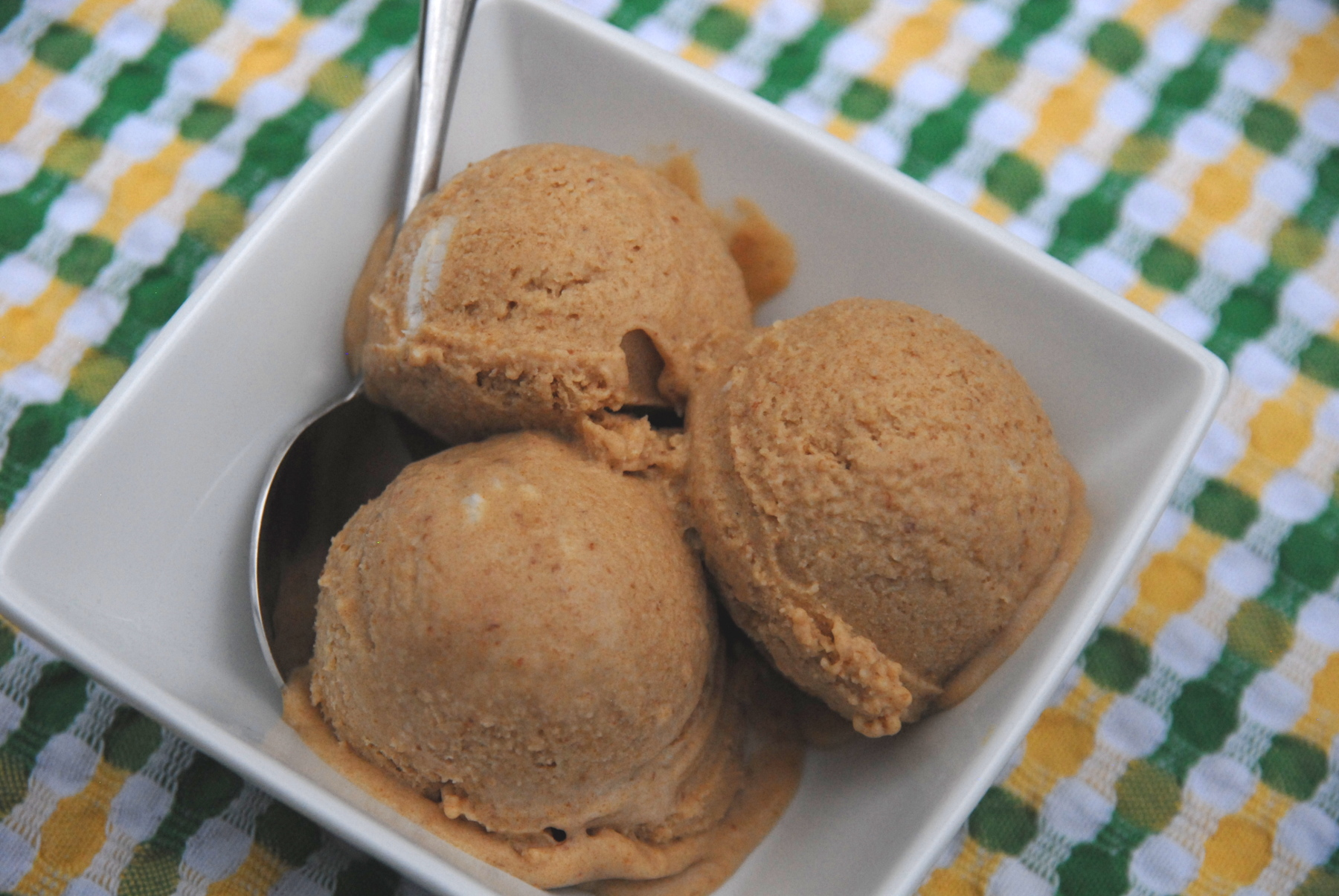Pomegranate molasses and date ice cream