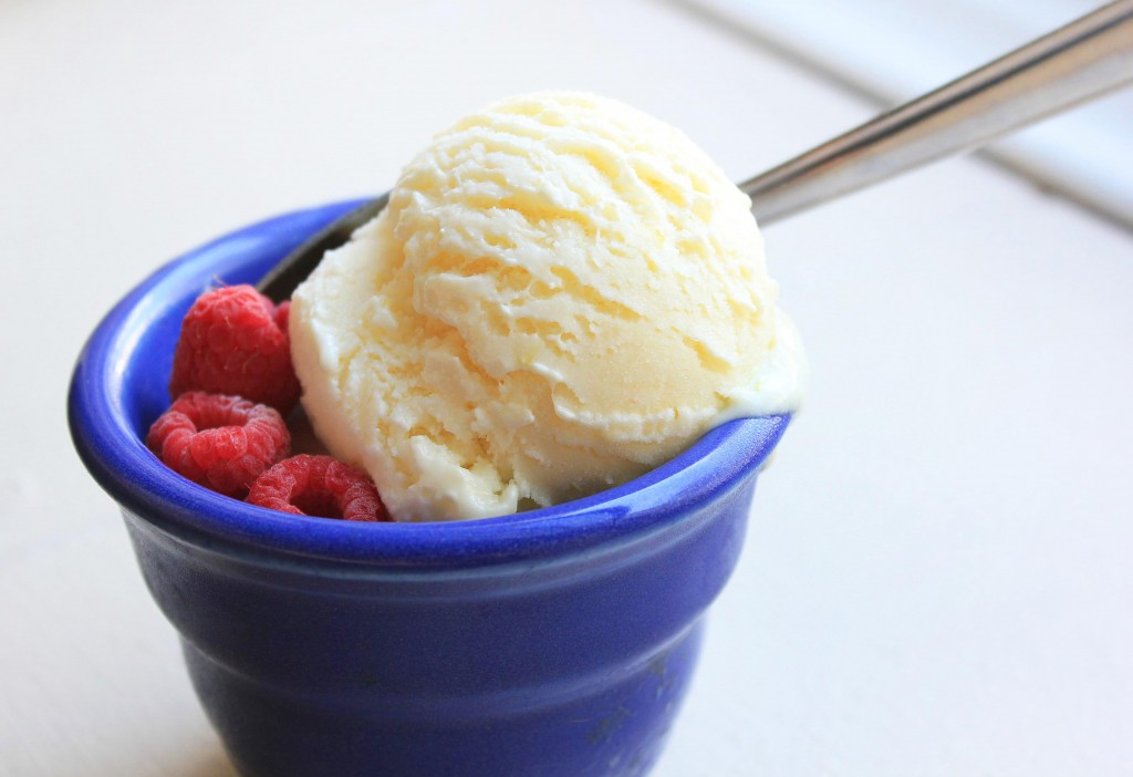 Lemon Curd Mascarpone Ice Cream