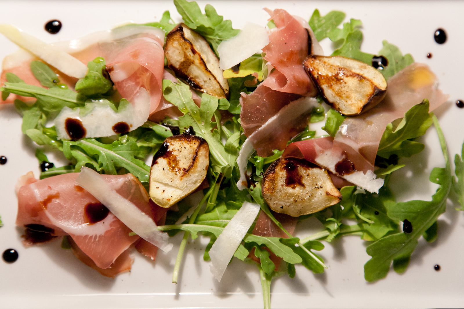 Grilled Pears with Arugula, Prosciutto and Balsamic Reduction Recipe ...