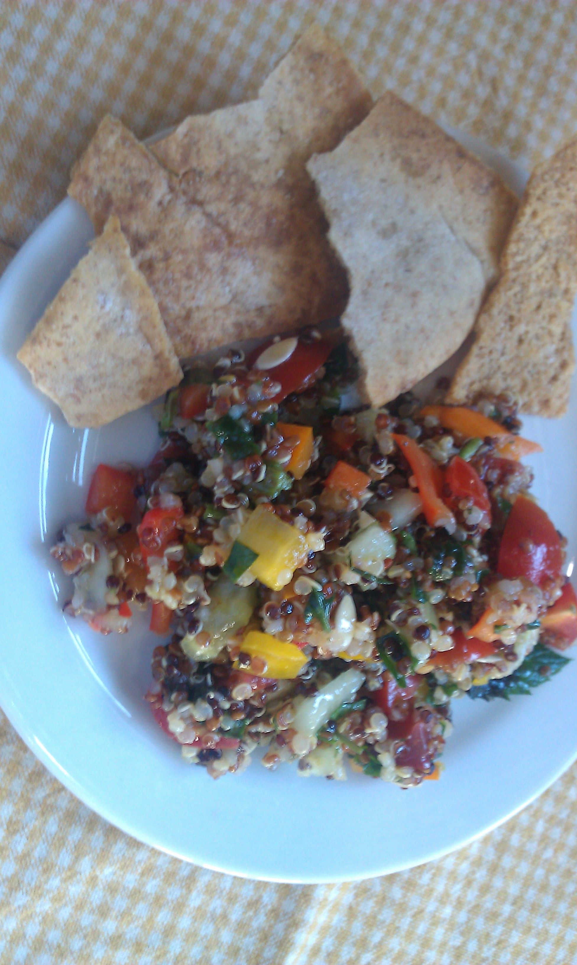 Lemon Tri-color Quinoa Tabbouleh