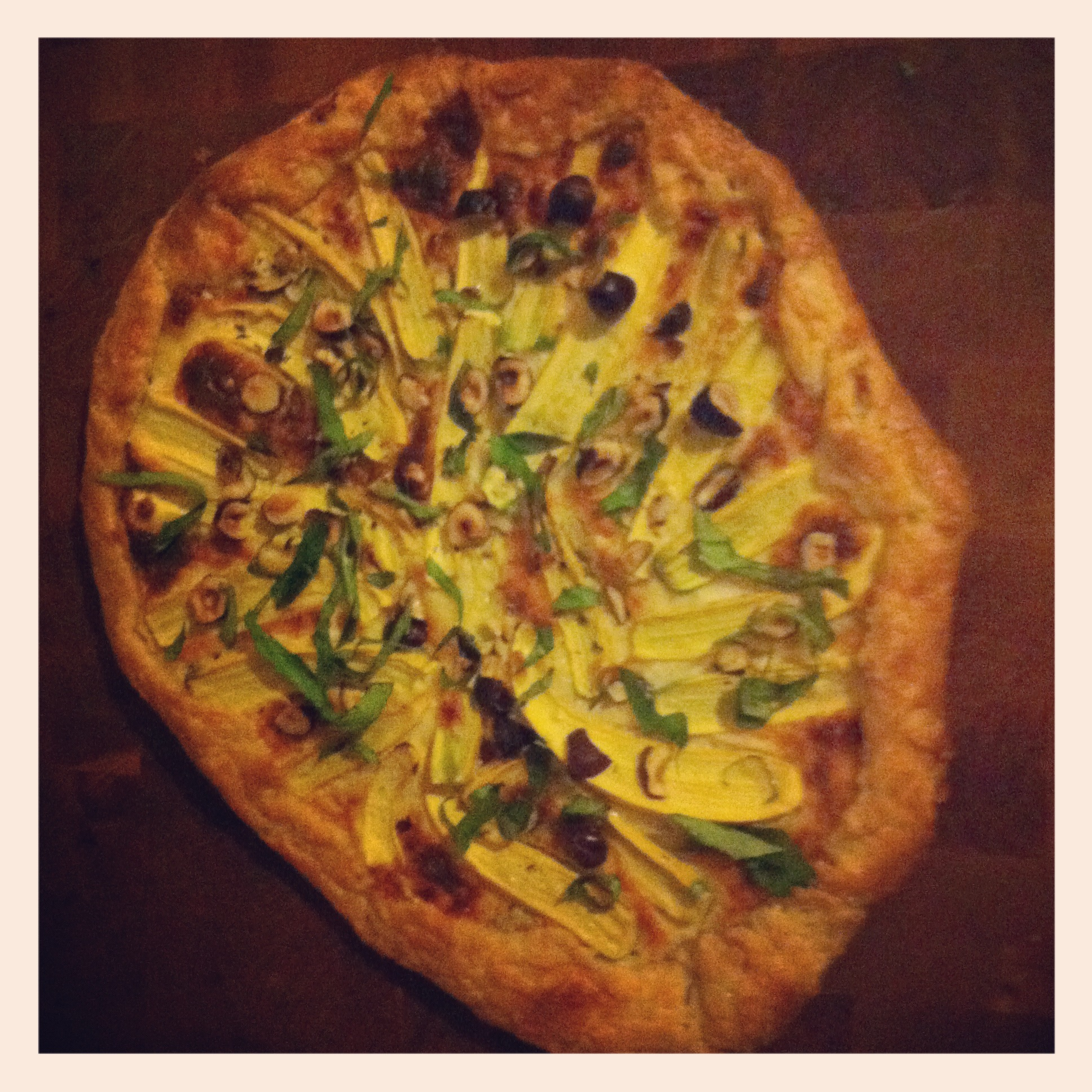 Summer Squash Galette with Chopped Hazelnuts