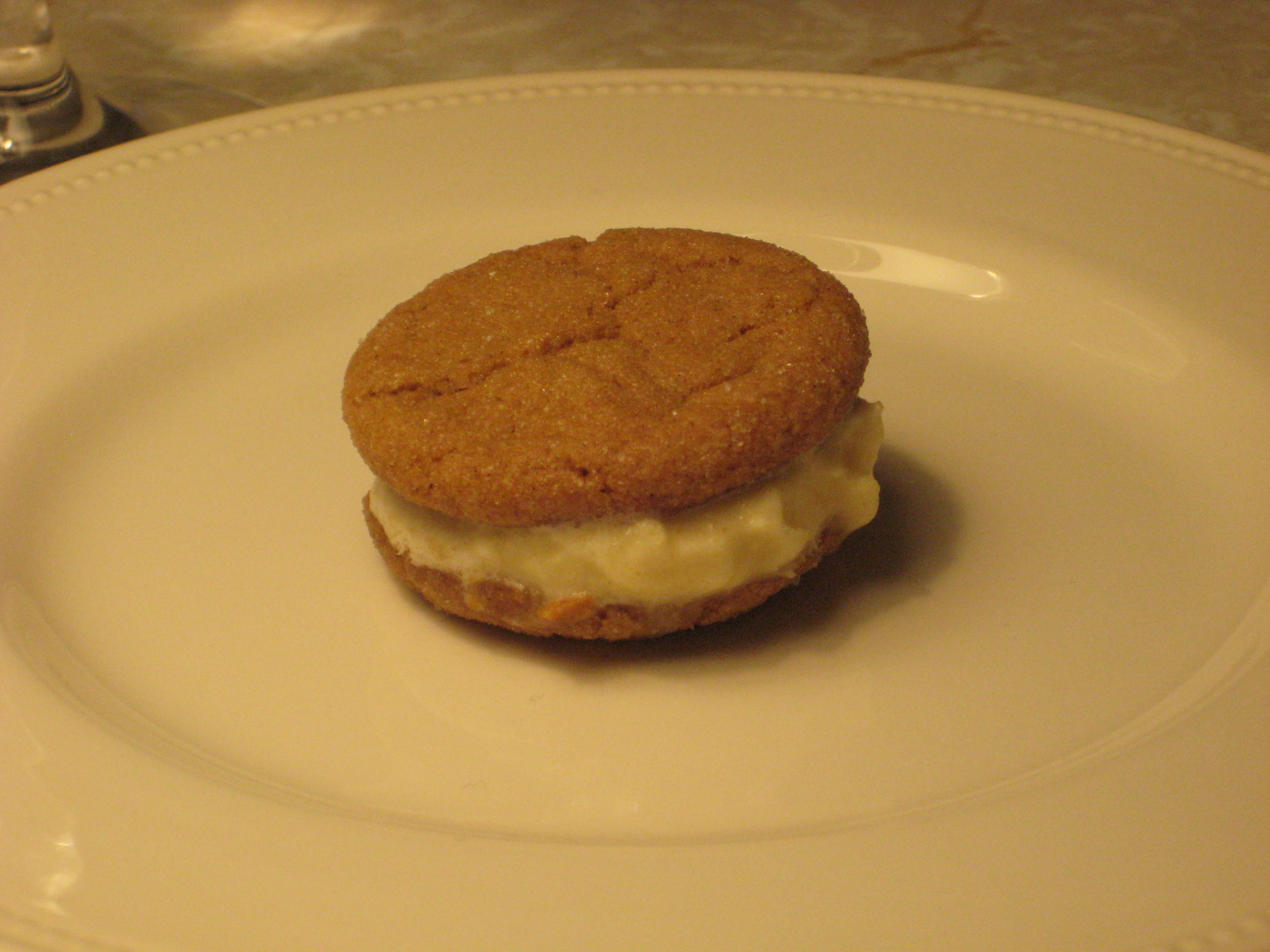 Ginger Snap Ice Cream Sandwiches