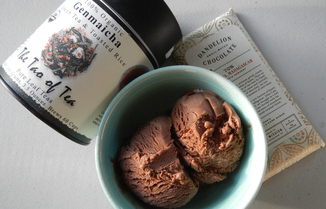 Chocolate Genmaicha Ice Cream
