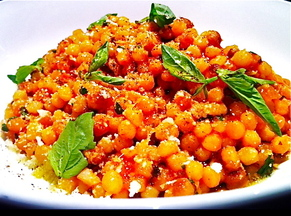 Fregola Sarda with Tomato, Pecorino, and Basil