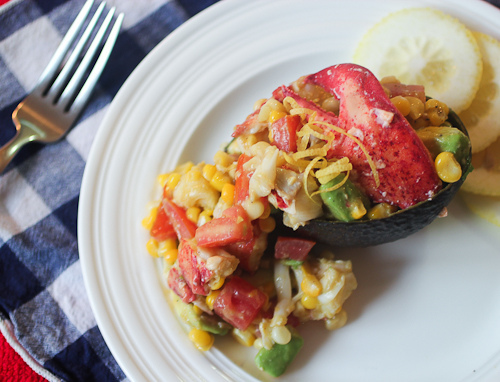 Lobster Salad with Avocado, Corn and Tomatoes