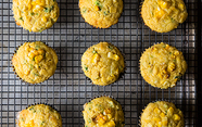 Double Corn, Quinoa &amp; Cheddar Muffins