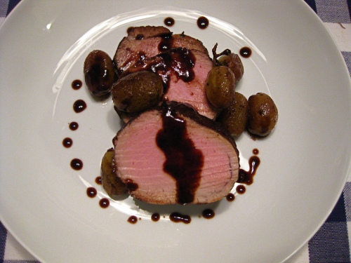 Seared Pork Tenderloin with Grapes