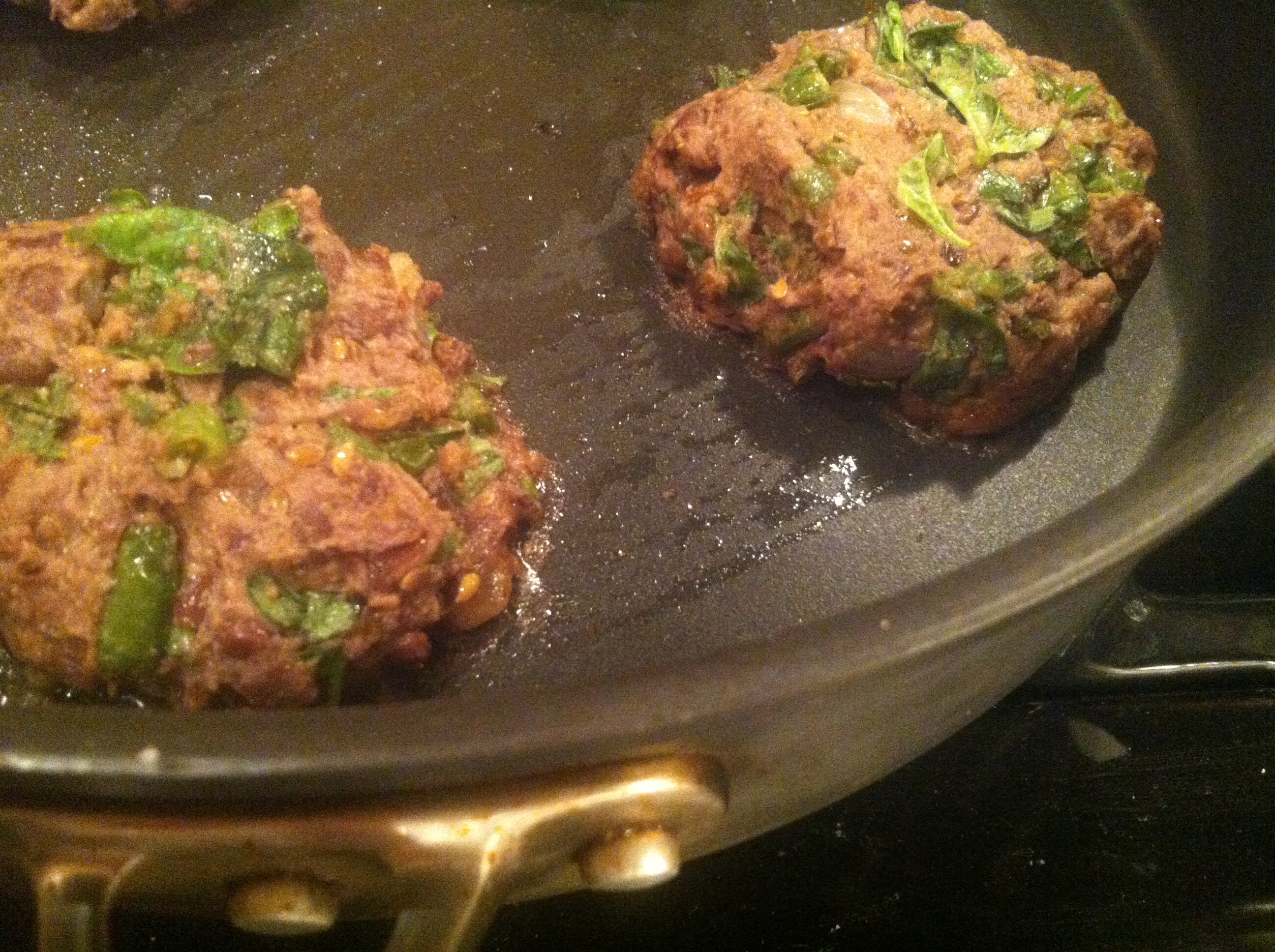 Vegan Three Bean Basil Burgers with Cumin & Garlic Dip