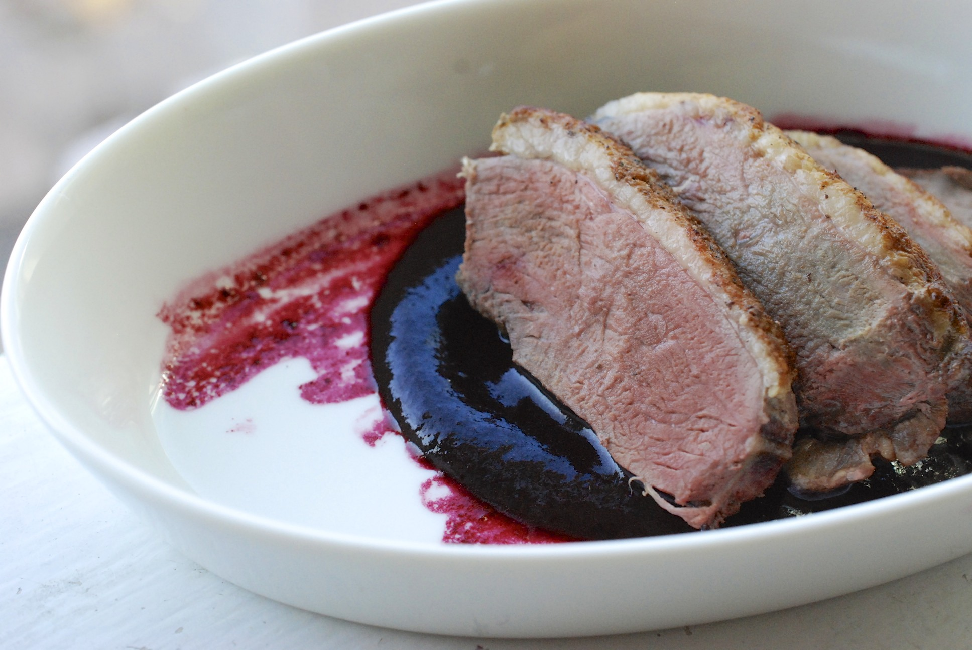 Duck Breasts with Concord Sauce