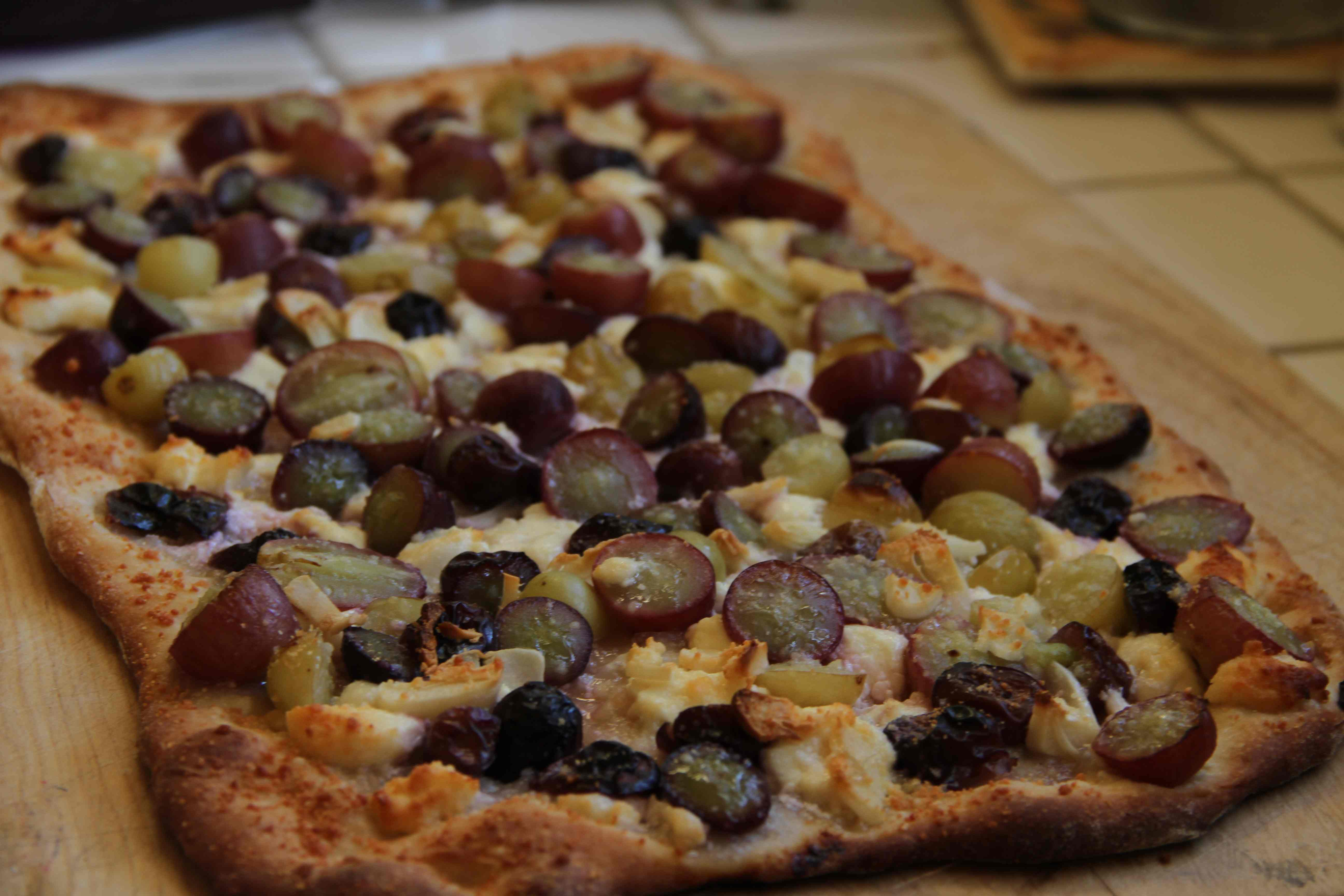 Grape and Feta Flat Bread
