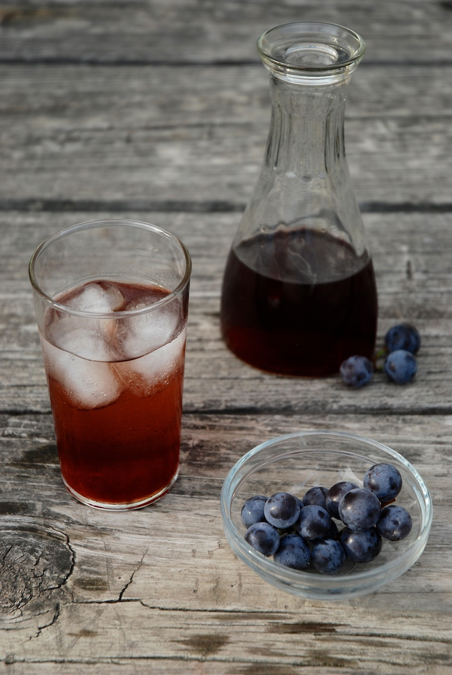 Concord Grape Balsamic Shrub