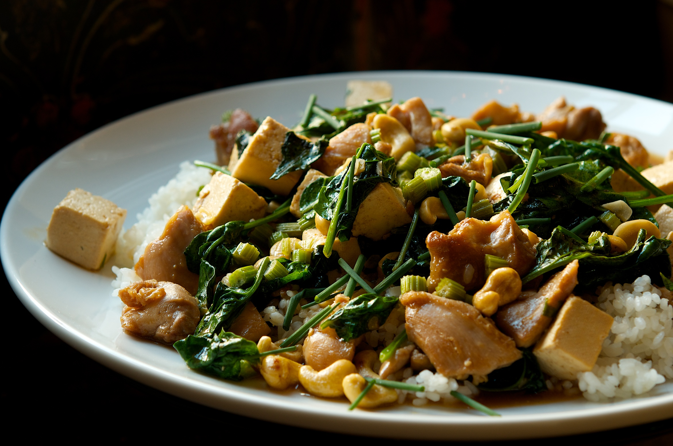Chicken and Tofu Stir Fry with Celery and Cashews Recipe ...