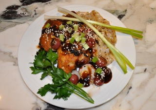 Peking Style Chicken with Pan Roasted Grape Hoisin