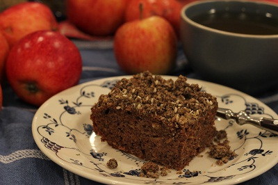 Apple Buckwheat Crumble Cake