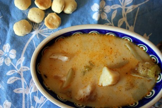 White Fish &amp; Scallop Chowder