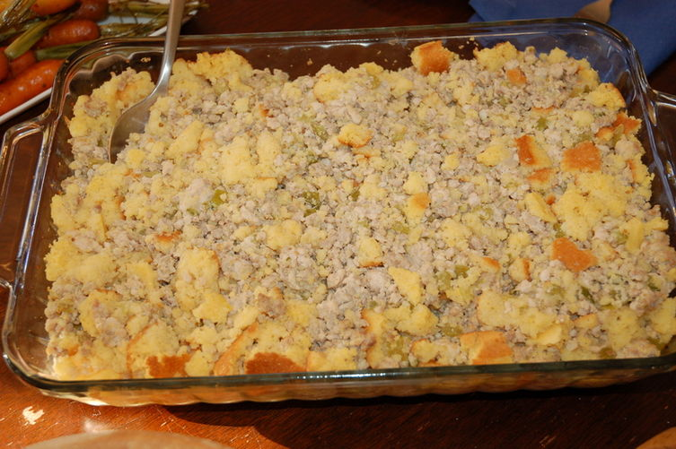 Louisiana Cornbread-Turkey Dressing