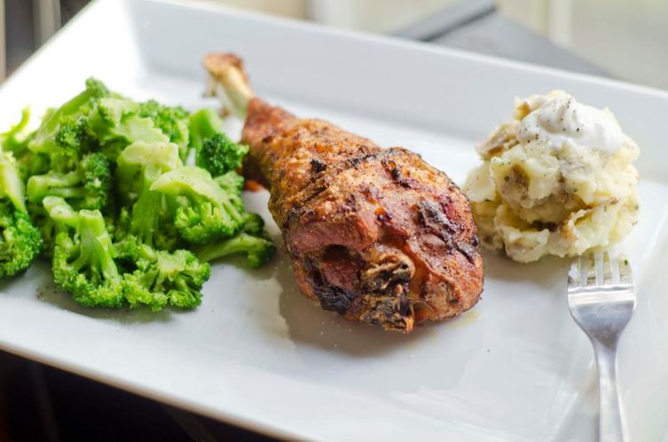 Baked Lemon &amp; Ancho Chile Spiced Turkey Legs