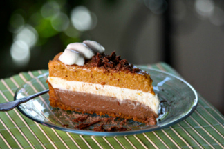 Chocolate Pumpkin Mousse Pie