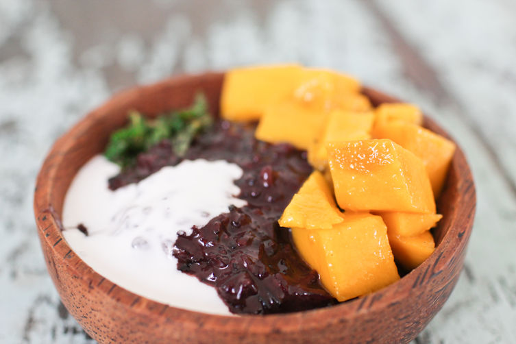 Black Rice Pudding with Mango &amp; Mint