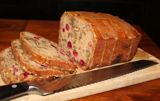 Cranberry-Pecan Banana Bread 